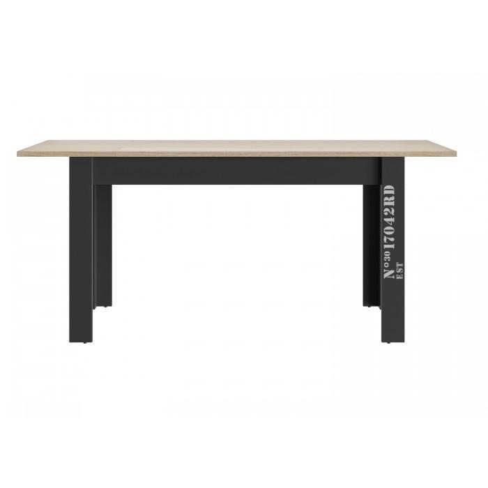 Exit τραπέζι επεκτεινόμενο 136/176x80x78εκ. Ανοιχτό Δρυς / Μαύρο