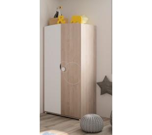 Oscar ντουλάπα με 2 πόρτες Blond Oak 90x56x182εκ.