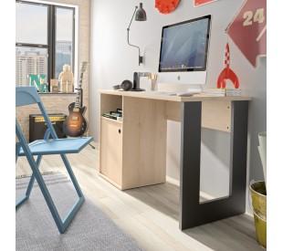 Duplex Γραφείο 120x56x75εκ. Black/Natural