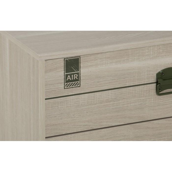 Indiana συρταριέρα με 3 συρτάρια 81x41x73εκ. Δρυς ανοιχτό  ΣΥΡΤΑΡΙΕΡΕΣ, insidehome.gr