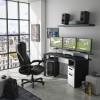 Invaders Γραφείο Gaming 170x67x88εκ.  Ανθρακί - Λευκό  , insidehome.gr