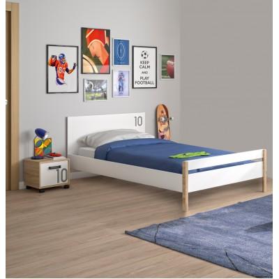 Kylian Κρεβάτι Μονό 100x207εκ. ( για στρώμα 90x200εκ. ) Λευκό / Sonoma