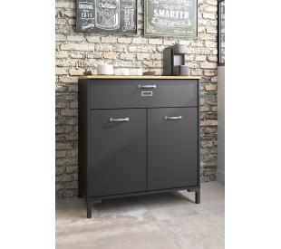 Manchester ντουλάπι αποθήκευσης - κονσόλα  81x41x90εκ. Helvezia Oak / Black