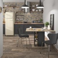 Oxford Τραπέζι με αποθηκευτικό χώρο 120x80x75εκ. Natural Chestnut/Black