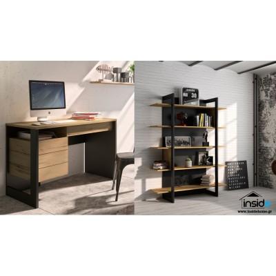 Σετ γραφείο & βιβλιοθήκη Russel με καρέκλα γραφείου Vita