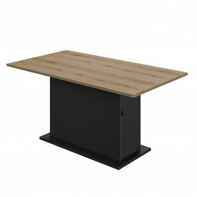 Trust Τραπέζι επεκτεινόμενο με αποθηκευτικό χώρο 160(200)x89εκ. Helvezia Oak / Black