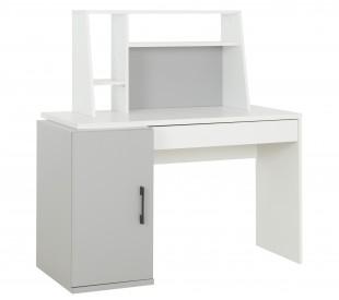 Ugo Γραφείο με εταζέρα 126x64x128εκ. Moon Grey- White