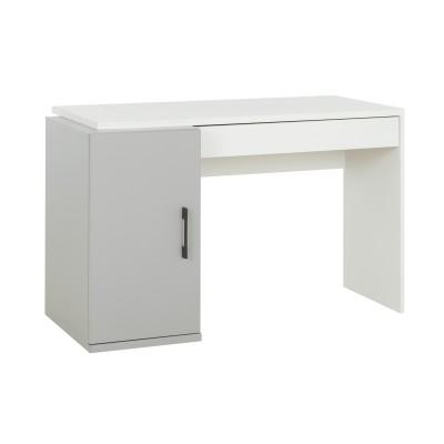 Ugo Γραφείο με 1 πόρτα και 1 συρτάρι 126x64x76εκ. Moon Grey- White