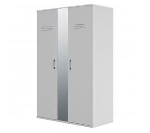 Ugo Ντουλάπα με 2 πόρτες και καθρέφτη 130x60x200εκ. Moon Grey-White