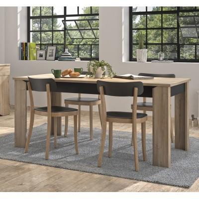 Yori τραπέζι ορθογώνιο 170x90εκ. Light Kronberg Oak/Black
