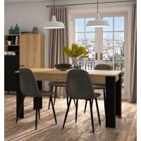 Trust Τραπέζι επεκτεινόμενο 160(200)x90εκ. Helvezia Oak / Black
