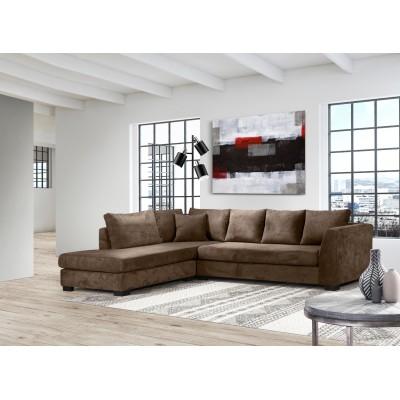 Diva Γωνιακός καναπές 277x214εκ. Καφέ
