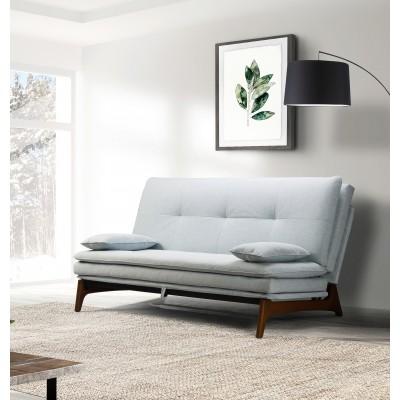 Beta Καναπές Κρεβάτι Click Clack  τριθέσιος 186x93εκ.  με ξύλινα πόδια Ανοιχτό Γαλάζιο
