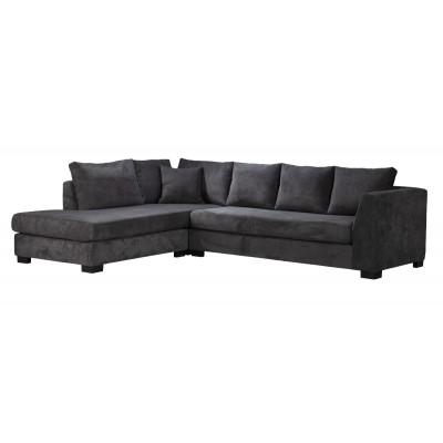 Diva Γωνιακός καναπές 277x214εκ. Γκρι