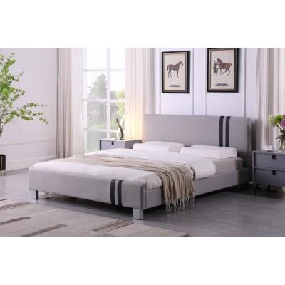 Jasper Ντυμένο διπλό κρεβάτι 158x214εκ. ( για στρώμα 150x200εκ. ) Γκρι Ανοιχτό