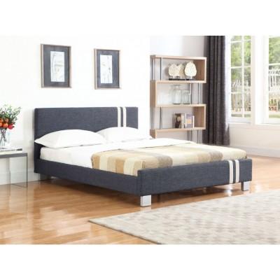 Jasper Ντυμένο διπλό κρεβάτι 158x214εκ. ( για στρώμα 150x200εκ. ) Γκρι