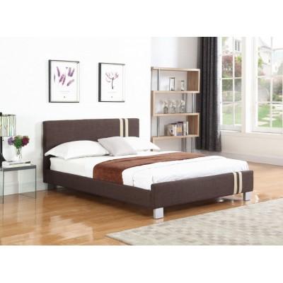 Jasper Ντυμένο διπλό κρεβάτι 158x214εκ. ( για στρώμα 150x200εκ. ) Καφέ