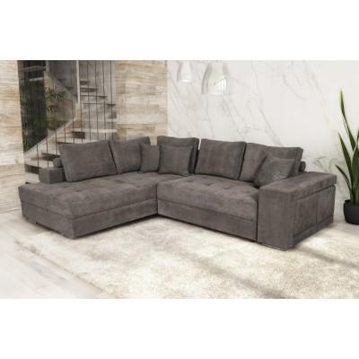 Karina Γωνιακός καναπές κρεβάτι με αποθηκευτικό χώρο & 2 σκαμπό 278x218εκ. Elephant Αριστερή Γωνία