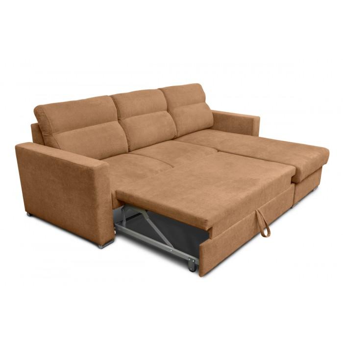 Kendall Γωνιακός καναπές κρεβάτι με αποθηκευτικό χώρο 242x177εκ. Μπεζ Σκούρο   ΓΩΝΙΑΚΟΙ ΚΑΝΑΠΕΔΕΣ, insidehome.gr