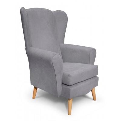 Classic Πολυθρόνα καθιστικού 80x75x114εκ. Γκρι Ανοιχτό