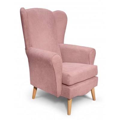 Classic Πολυθρόνα καθιστικού 80x75x114εκ. Dusty Pink