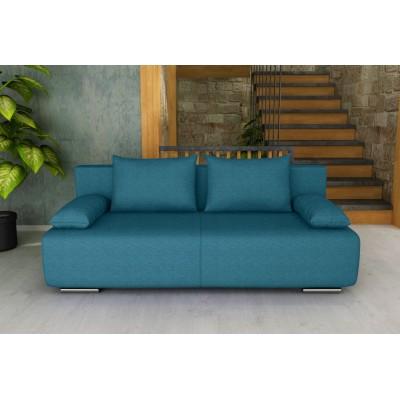 GEORGIA Καναπές κρεβάτι με αποθηκευτικό χώρο 194x93εκ. Πετρόλ