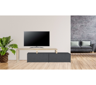 Nuevo έπιπλο τηλεόρασης 142/160x40x45εκ. Sonoma / Ανθρακί