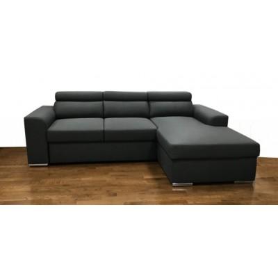 Bari Γωνιακός καναπές κρεβάτι με αποθηκευτικό χώρο 245x173εκ Γκρι Σκούρο Δεξιά Γωνία