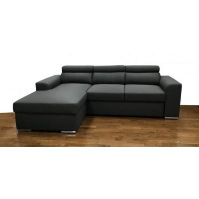 Bari Γωνιακός καναπές κρεβάτι με αποθηκευτικό χώρο 245x173εκ Γκρι Σκούρο Αριστερή Γωνία