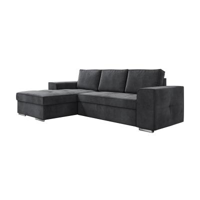 Corfu Γωνιακός καναπές κρεβάτι με αποθηκευτικό χώρο 271x163εκ.  Γκρι  Αριστερή Γωνία