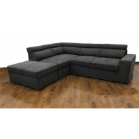 Cortina Γωνιακός καναπές κρεβάτι με αποθηκευτικό χώρο 270x230εκ. Γκρι Σκούρο Αριστερή Γωνία