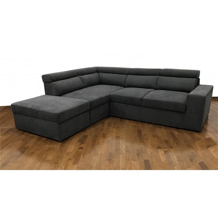 Cortina Γωνιακός καναπές κρεβάτι με αποθηκευτικό χώρο 252x220εκ. Γκρι Σκούρο Αριστερή Γωνία ΓΩΝΙΑΚΟΙ ΚΑΝΑΠΕΔΕΣ, insidehome.gr
