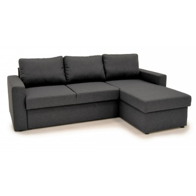 Sofia Γωνιακός καναπές κρεβάτι με αποθηκευτικό χώρο 222χ150εκ. Γκρι