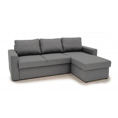 Sofia Γωνιακός καναπές κρεβάτι με αποθηκευτικό χώρο 222χ150εκ. Γκρι Ανοιχτό