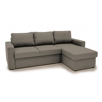 Sofia Γωνιακός καναπές κρεβάτι με αποθηκευτικό χώρο 222χ150εκ. Taupe