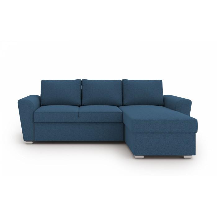 Stanford γωνιακός καναπές κρεβάτι με αποθηκευτικό χώρο 242x160εκ. Μπλε ΓΩΝΙΑΚΟΙ ΚΑΝΑΠΕΔΕΣ, insidehome.gr