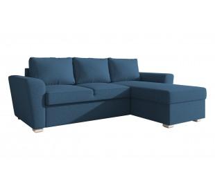 Stanford γωνιακός καναπές κρεβάτι με αποθηκευτικό χώρο 242x160εκ. Μπλε