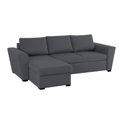 Stanford γωνιακός καναπές κρεβάτι με αποθηκευτικό χώρο 242x160 Γκρι
