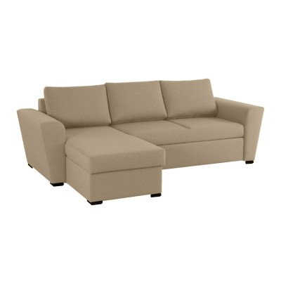 Stanford Γωνιακός καναπές κρεβάτι με αποθηκευτικό χώρο 242x160 Μπεζ