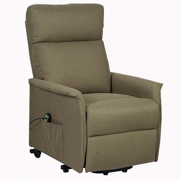 Denver Πολυθρόνα Relax Lift Ύφασμα Γκρι  66 Χ 86 - 157 Χ 104 - 87εκ.  RELAX MASSAGE, insidehome.gr