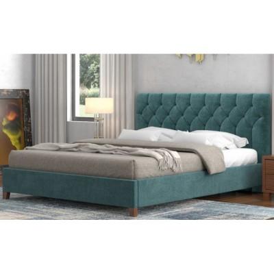 Pol63 Ντυμένο διπλό κρεβάτι 172x210εκ. (για στρώμα 160x200εκ.)