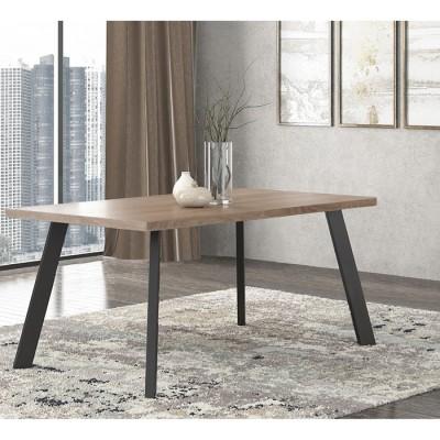 Pol05 Τραπέζι 160x90x78εκ. Μόκα - Μαύρο