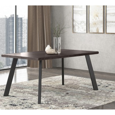 Pol05 Τραπέζι 160x90x78εκ. Βέγγε - Μαύρο