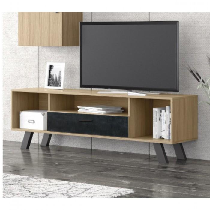 Eπιπλα τηλεορασης - Fiori έπιπλο τηλεόρασης 150x45x52εκ Sonoma-Cement