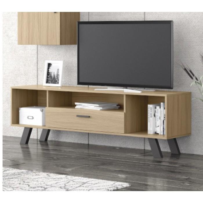 Eπιπλα τηλεορασης - Fiori έπιπλο τηλεόρασης 150x45x52εκ. Sonoma