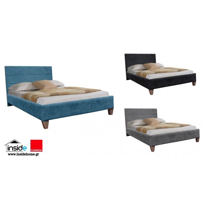 Remy Ντυμένο ημίδιπλο κρεβάτι & στρώμα 110x200εκ. Candia ΚΡΕΒΑΤΙΑ ΜΕ ΣΤΡΩΜΑ, insidehome.gr