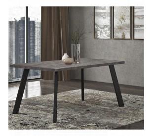 Pol05 Τραπέζι 160x90x78εκ. Cement  - Μαύρο