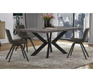 Τραπέζι τραπεζαρίας 160x90x78εκ. Cement