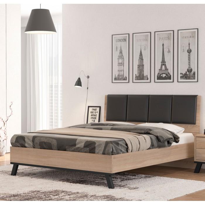 Κρεβάτι διπλό POL69 Λάττε 150x200  ΞΥΛΙΝΑ ΚΡΕΒΑΤΙΑ, insidehome.gr