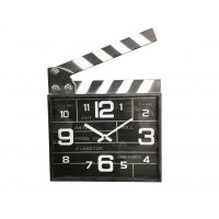 CINEMA CLAP CLOCK TEMPO 33X34EK. METAL